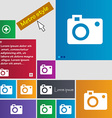 camera icon sign buttons Modern interface website vector image