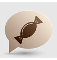 Candy sign Brown gradient icon on vector image vector image