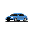 car side flat icon car profile side view vector image vector image