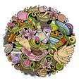 cartoon cute doodles hand drawn massage vector image vector image