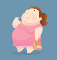 character of an overweight woman dressed vector image vector image