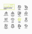 climate change - line design style icons set vector image
