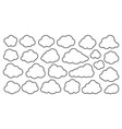 cloud line icon set weather database network sign vector image