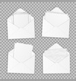 collection various realistic white papers vector image