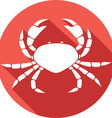 Crab Icon vector image vector image