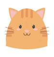 cute cat face cartoon icon vector image