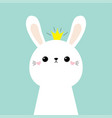 cutebunny rabbit face head icon kids print vector image vector image
