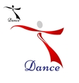 Dancing woman abstract icon or symbol vector image vector image