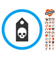 death coupon icon with dating bonus vector image vector image