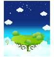 Dinning table in sky vector image