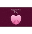 Dove with heart Happy Valentine Day vector image
