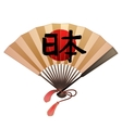 Fan in japanese style vector image vector image