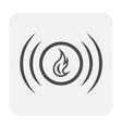 fire alarm icon vector image