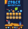 game template with space adventure background vector image vector image