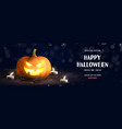 happy halloween holiday sale banner vector image vector image