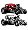 hotrod custom car vector image vector image