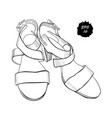isolated objects sandal shoes vector image vector image