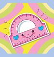 kawaii cute school cartoon vector image