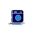 laundry machine mbe style logo vector image vector image