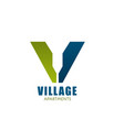 logo for village apartment company vector image