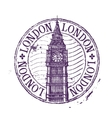 London logo design template Shabby stamp vector image