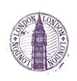 london logo design template shabstamp vector image vector image