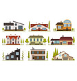 modern country homes for booking and living vector image vector image