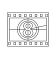 movie frame with countdown icon vector image vector image