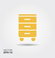 nightstand icon vector image