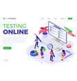 online survey questionnaire form or test vector image
