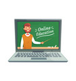online teacher education professor teach vector image