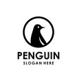 penguin logo design template vector image vector image