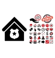 Police Office Flat Icon with Bonus vector image vector image