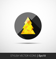 polygon christmas tree icon vector image vector image