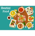 Popular dinner dishes icon for healthy food design vector image vector image