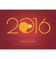 print for monkey 2016 vector image vector image
