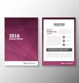 Purple annual report Leaflet Brochure set vector image