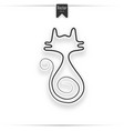 realistic design element cat vector image vector image