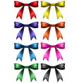 ribbon design in eight colors vector image