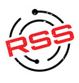 rss rubber stamp vector image vector image