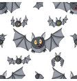seamless pattern cartoon bats cute vampire bat vector image vector image