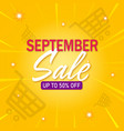 september sale poster isolated vector image