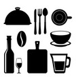 set of restaurant icon vector image vector image