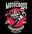 shirt design motorcross championship vector image
