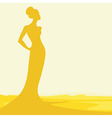 silhouette of woman vector image vector image