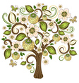 Spring isolated tree vector image vector image