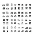 store and shop icons 64 item vector image vector image