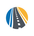 street logo combination pathway and vector image