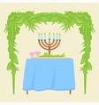 Sukkot Festival greeting card design vector image