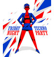 techno electro party poster with cool stylish vector image vector image
